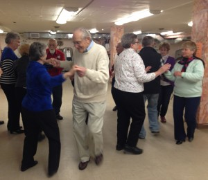 Two-Hand Turn your partner at a senior center